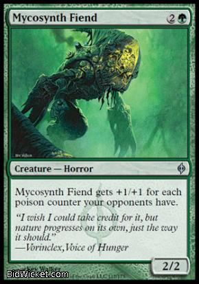 Mycosynth Fiend, New Phyrexia, Magic the Gathering