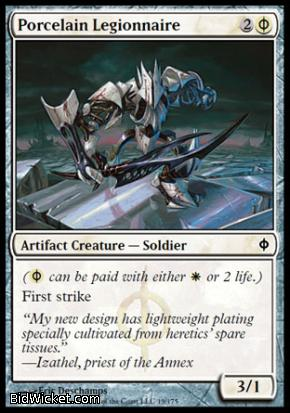 Porcelain Legionnaire, New Phyrexia, Magic the Gathering