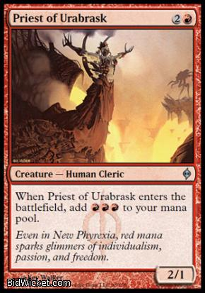 Priest of Urabrask, New Phyrexia, Magic the Gathering