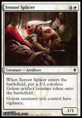 Sensor Splicer, New Phyrexia, Magic the Gathering