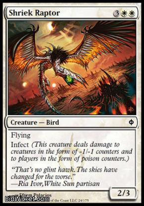 Shriek Raptor, New Phyrexia, Magic the Gathering