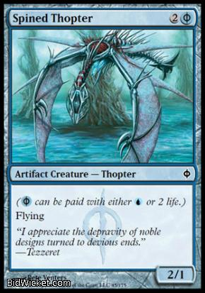 Spined Thopter, New Phyrexia, Magic the Gathering
