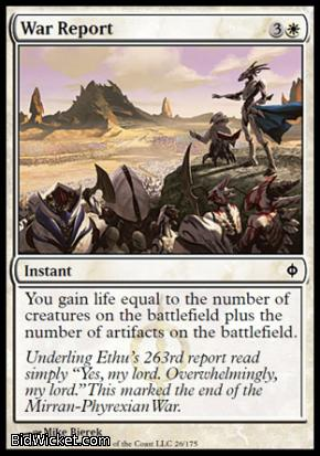 War Report, New Phyrexia, Magic the Gathering