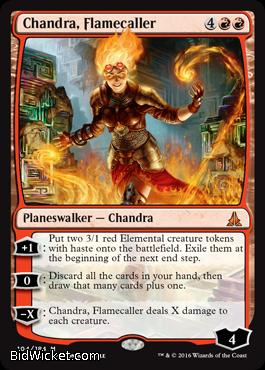 Chandra, Flamecaller,Oath of the Gatewatch, Magic the Gathering