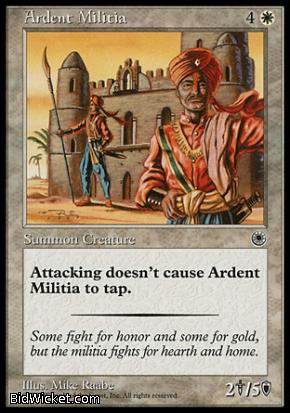 Ardent Militia, Portal, Magic the Gathering