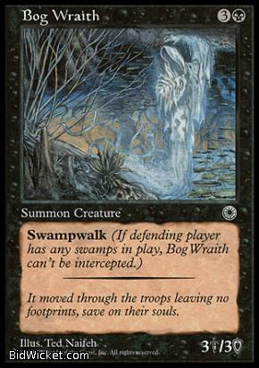 Bog Wraith, Portal, Magic the Gathering