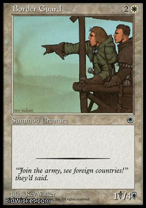Border Guard, Portal, Magic the Gathering