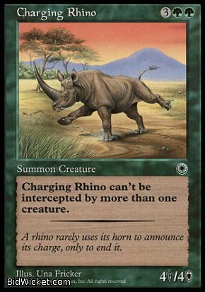 Charging Rhino, Portal, Magic the Gathering