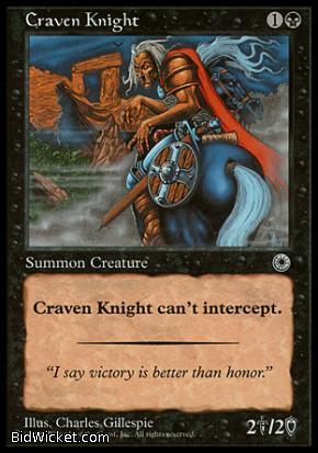 Craven Knight, Portal, Magic the Gathering