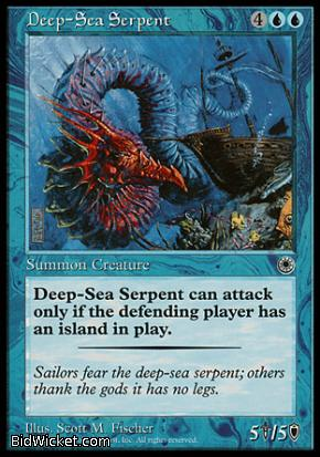 Deep-Sea Serpent, Portal, Magic the Gathering