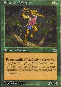 Elite Cat Warrior (1), Portal, Magic the Gathering