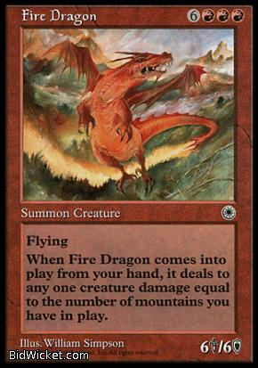 Fire Dragon, Portal, Magic the Gathering