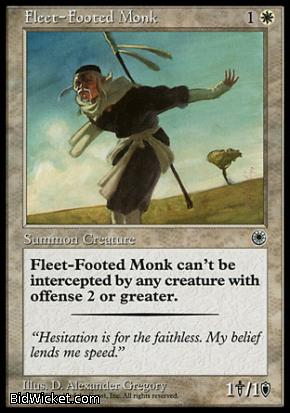 Fleet-Footed Monk, Portal, Magic the Gathering