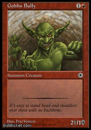 Goblin Bully, Portal, Magic the Gathering