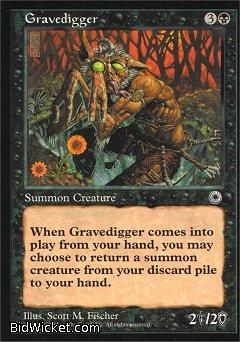 Gravedigger, Portal, Magic the Gathering