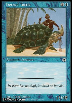 Horned Turtle, Portal, Magic the Gathering