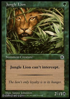 Jungle Lion, Portal, Magic the Gathering