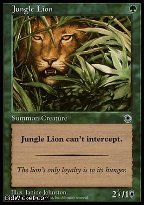 Jungle Lion, Portal, Magic the Gathering