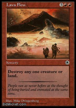 Lava Flow, Portal, Magic the Gathering