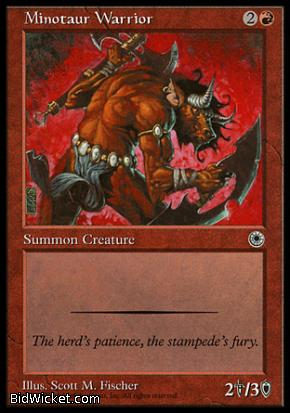 Minotaur Warrior, Portal, Magic the Gathering