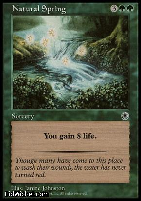 Natural Spring, Portal, Magic the Gathering