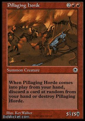 Pillaging Horde, Portal, Magic the Gathering