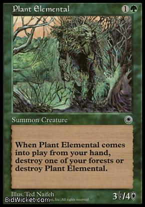 Plant Elemental, Portal, Magic the Gathering