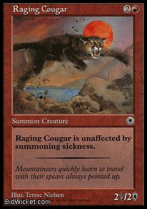 Raging Cougar, Portal, Magic the Gathering
