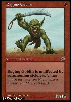 Raging Goblin (1), Portal, Magic the Gathering