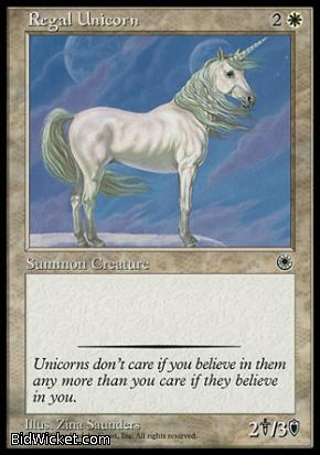 Regal Unicorn, Portal, Magic the Gathering