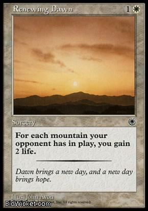 Renewing Dawn, Portal, Magic the Gathering