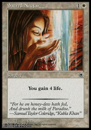 Sacred Nectar, Portal, Magic the Gathering