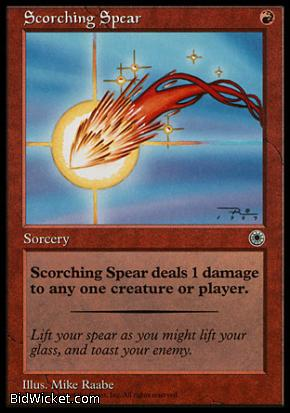 Scorching Spear, Portal, Magic the Gathering