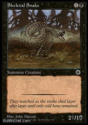 Skeletal Snake, Portal, Magic the Gathering
