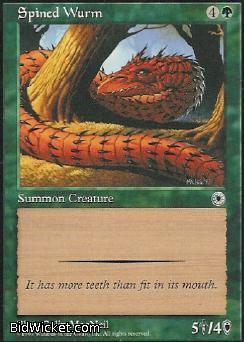 Spined Wurm, Portal, Magic the Gathering