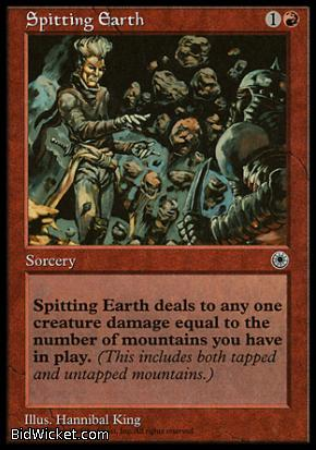 Spitting Earth, Portal, Magic the Gathering