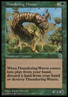 Thundering Wurm, Portal, Magic the Gathering