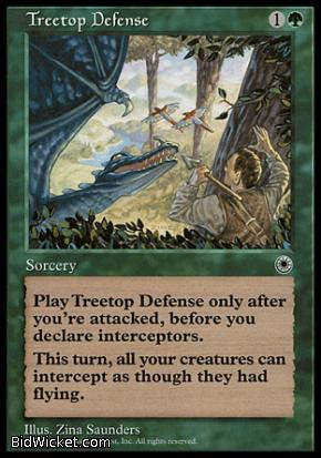 Treetop Defense, Portal, Magic the Gathering