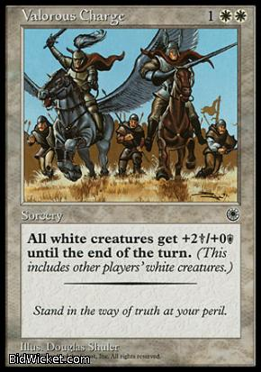 Valorous Charge, Portal, Magic the Gathering