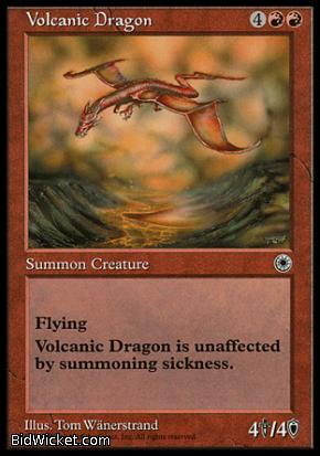 Volcanic Dragon, Portal, Magic the Gathering