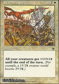 Warrior's Charge (1), Portal, Magic the Gathering