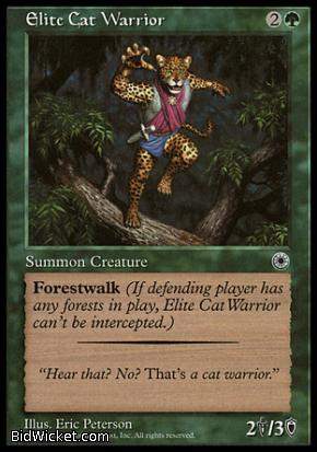 Elite Cat Warrior (2), Portal, Magic the Gathering