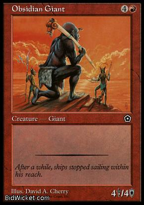 Obsidian Giant, Portal Second Age, Magic the Gathering