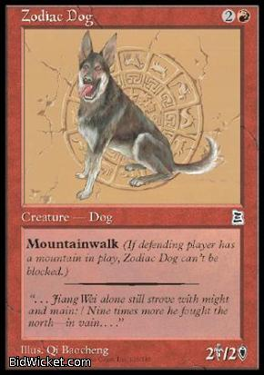 Zodiac Dog, Portal Three Kingdoms, Magic the Gathering
