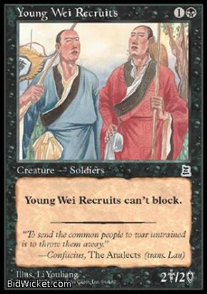 Young Wei Recruit, Portal Three Kingdoms, Magic the Gathering