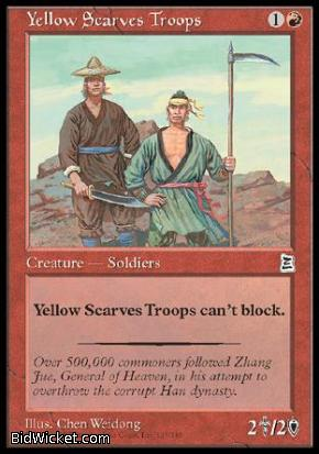 Yellow Scarves Troops, Portal Three Kingdoms, Magic the Gathering