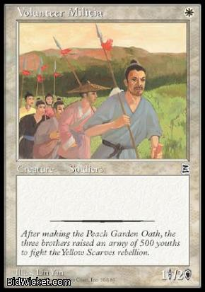 Volunteer Militia, Portal Three Kingdoms, Magic the Gathering