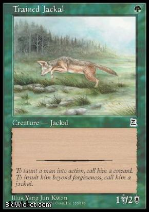Trained Jackal, Portal Three Kingdoms, Magic the Gathering