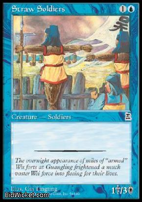 Straw Soldiers, Portal Three Kingdoms, Magic the Gathering