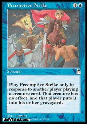 Preemptive Strike, Portal Three Kingdoms, Magic the Gathering